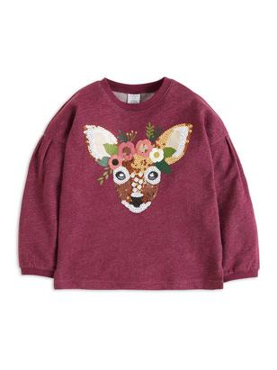 Sweater with Sequins Lilac
