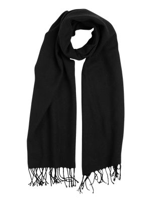 Scarf with Fringes Black