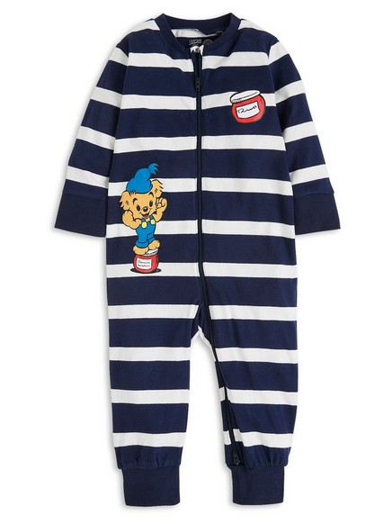 Stripete Bamse-pyjamas Blå