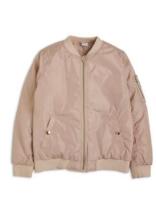 Topattu bomber-takki Vaaleanpunainen