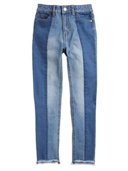 Slim džíny s vysokým pasem Modrá