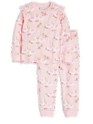 Pyjamas with Swans Pink