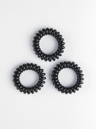3-pack Hair Elastics Black