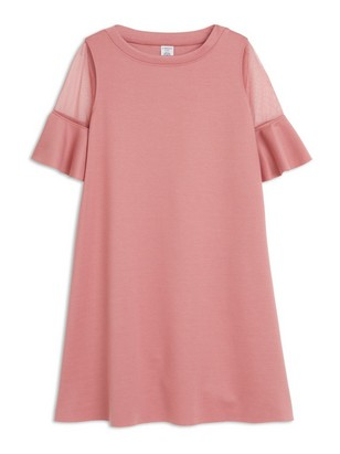 Dress with Mesh Pink