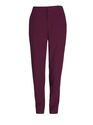 Tapered Woven Trousers Lilac