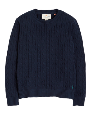 Cable Knit Sweater Blue