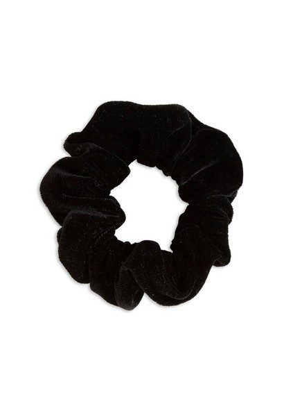 Samettinen hiusdonitsi Musta