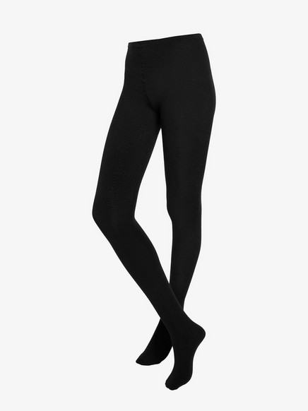 Tights in Wool Mix Black
