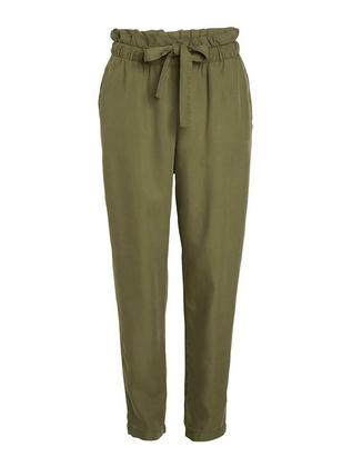 AVA Tapered Trousers in Lyocell Green
