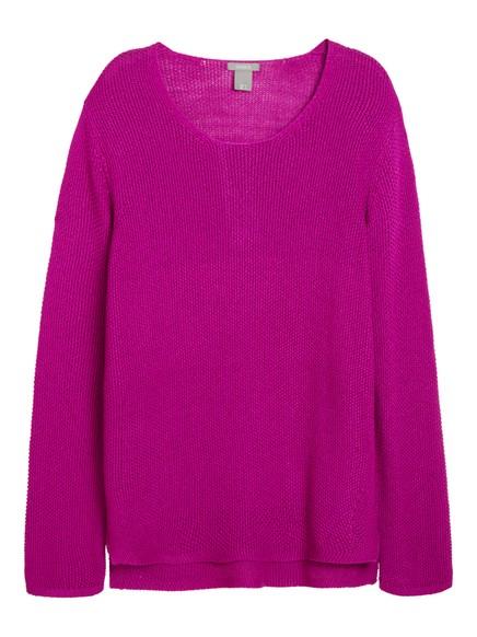 Úpletový svetr Růžová