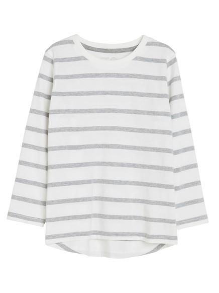 Raidallinen t-paita Harmaa