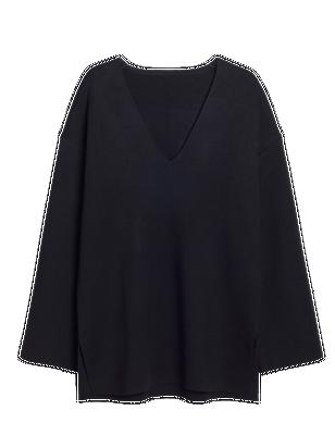 Fine-knit Sweater Black