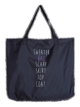 Shopper-kassi Musta