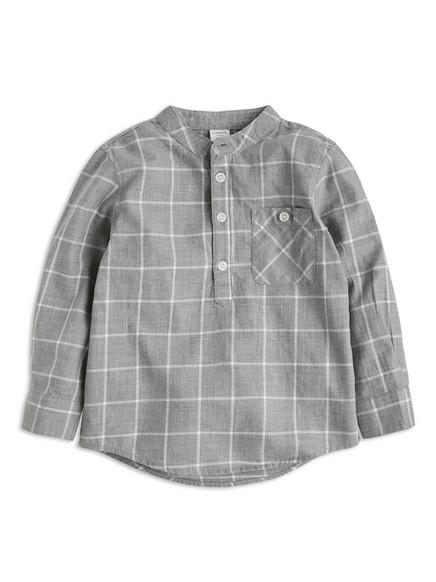 Skjorte uten krage Grå