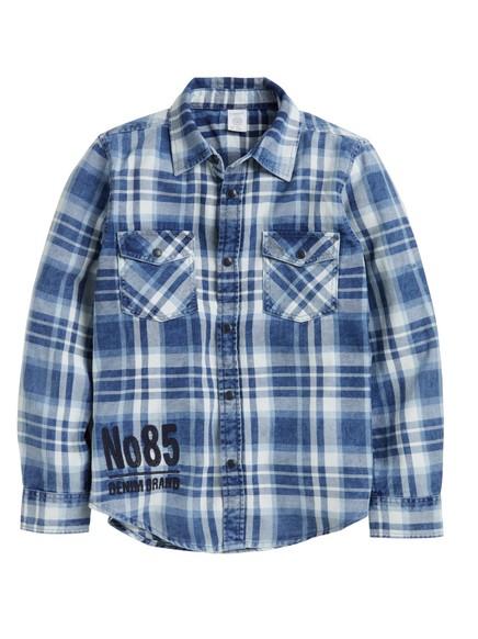 Checked Shirt Blue
