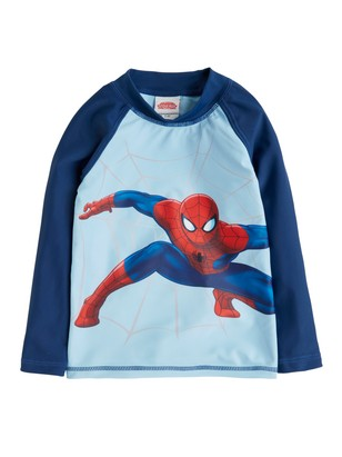 Sunprotection Top with Spider-man Blue