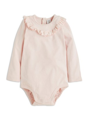 Bodysuit with Flounce Pink