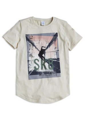 Ekstra lang T-shirt Beige