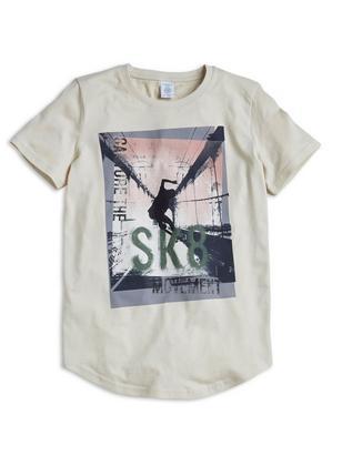 Extra Long T-shirt Beige