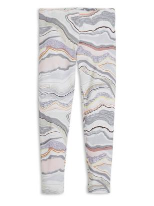 Patterned Leggings Grey