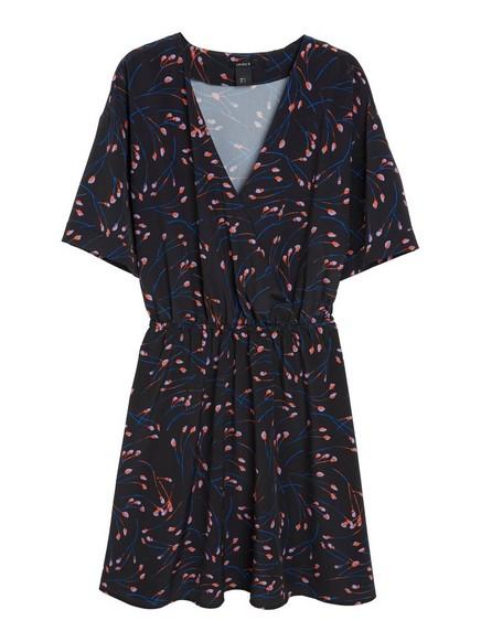 Kuviollinen mekko Musta