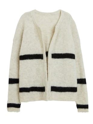 Knitted Cardigan in Alpaca Blend Grey
