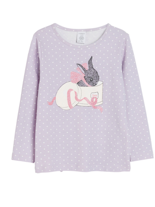 Top with Print Lilac