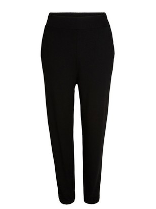 Loose Jersey Trousers Black