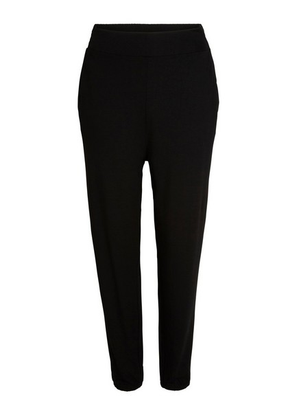 Volné žerzejové kalhoty Černá