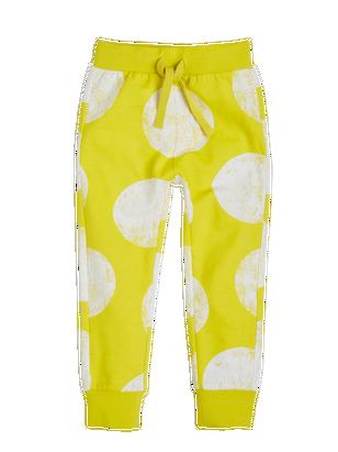 Patterned Sweatpants Yellow