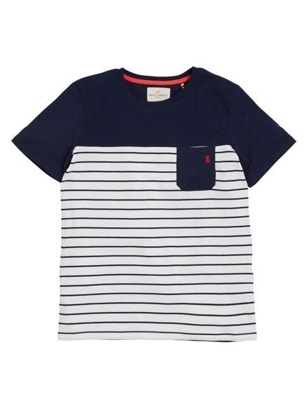 Raidallinen t-paita Sininen