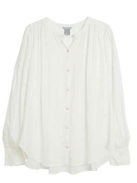 Blouse with Pearls White