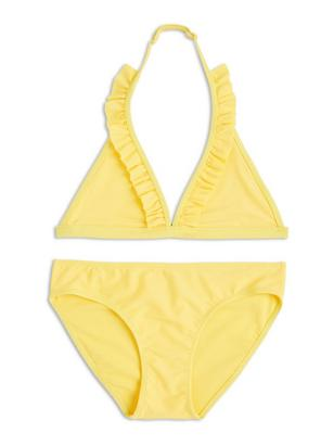 Bikini with Frills Yellow