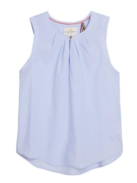 Ermeløs bluse Blå