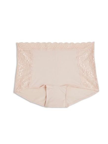 Středně vysoké kalhotky ve stylu boxerek Růžová