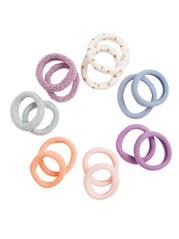 14-pack Hair Elastics Pink