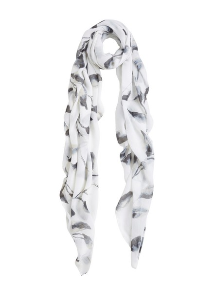 Patterned Scarf White