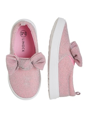 Rosa skor med spets barn