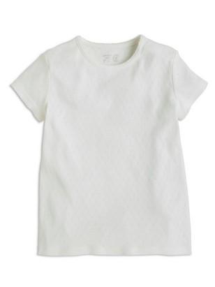 Pointelle-kuvioitu pusero Valkoinen