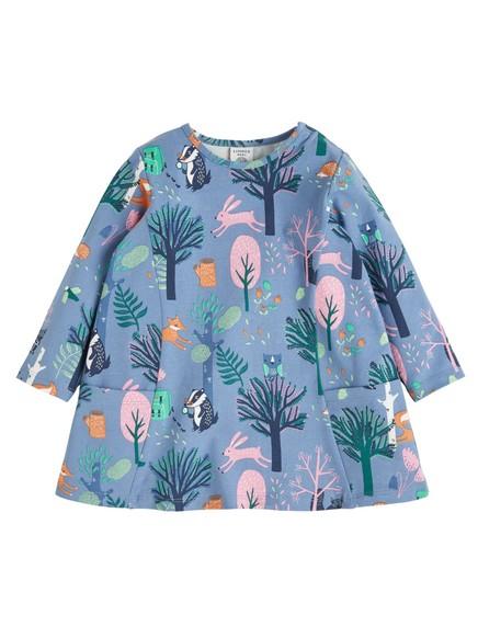 Tunika med mönster Blå