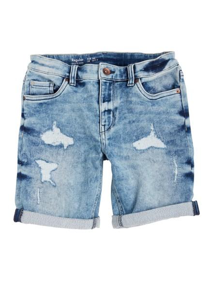 Regular jeansshorts Blå