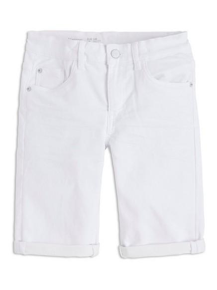 Jeansshorts i jersey Hvit