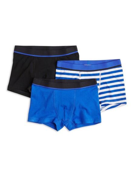 Boxerky, 3 kusy Modrá
