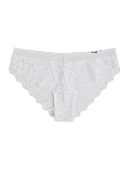 Brazilské kalhotky snízkým pasem Bílá
