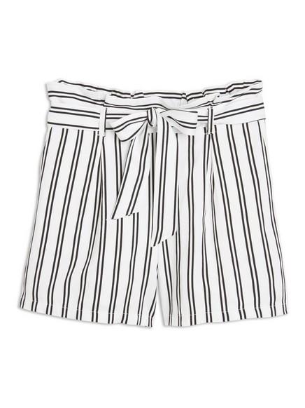 Shorts i viskose Hvit