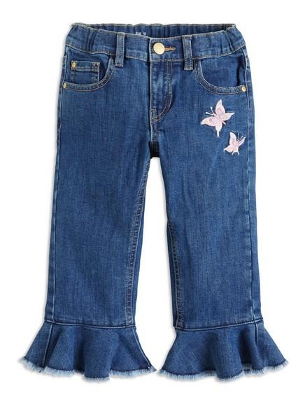 Smale, avkortede jeans Blå