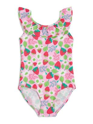 Swimsuit with Frill Pink