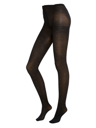 Tights with Rhinestones 60 denier Black