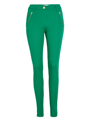 Slim Stretch Trousers Green