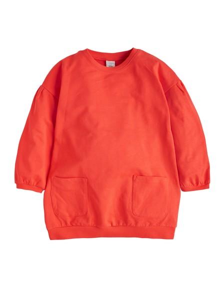 Tunika med lommer Oransje